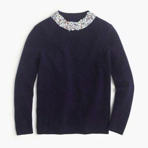 NWT J. Crew Mockneck Sequin Embellished Sweater